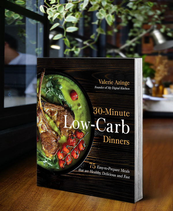 30-minute low-carb dinners book cover